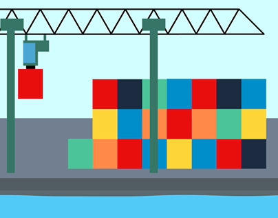 Container Terminal Animation
