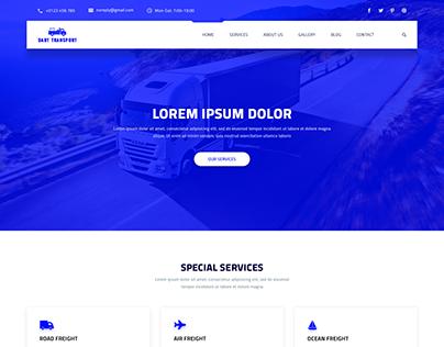 Dart Transport – PSD Template