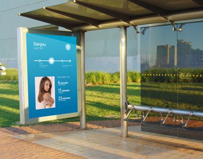 Arrêt de bus intéractif concept (2012)