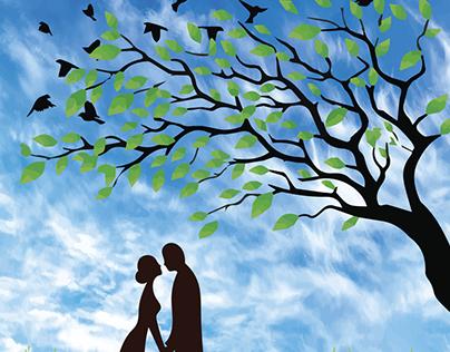Romantic Nature Painting illustration