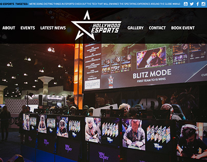 Hollywood Esports   Website Concept