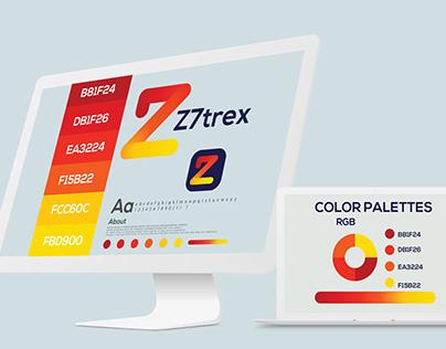 z7trex moden logo logos modern z logo logo design