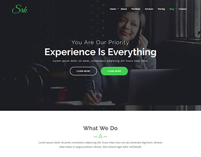 SRK - One Page Parallax WordPress Theme