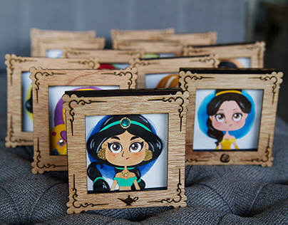 Disney Princess paper cut art frames