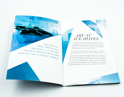 Ice Hotel Pamphlet
