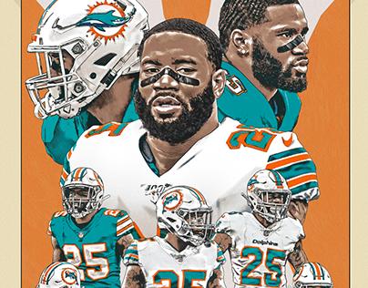 Xavien Howard Miami Dolphins poster
