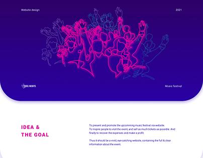 Website design (music festival)