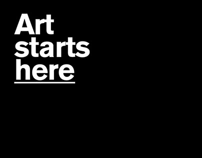Art starts here campaign