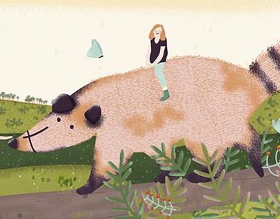 Illustration Book - Mi casa en el monte