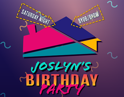 90s Birthday Party Flyer