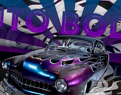 Auto Body Promotional Poster