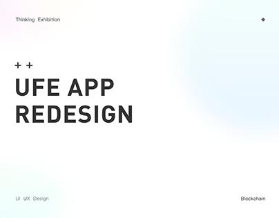 UFE Blockchain App Resesign