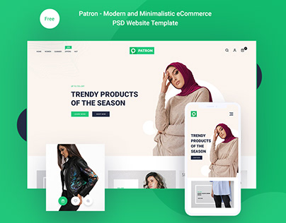 Patron – Free Modern And Minimalistic E-Commerce PSD