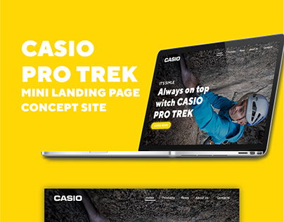 Landing page: Casio Pro Trek