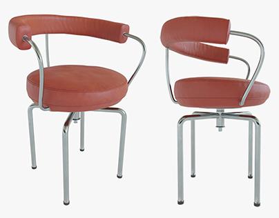 3d model red stool