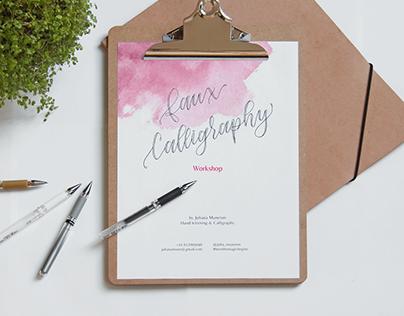 Faux Calligraphy Workshop | Book design
