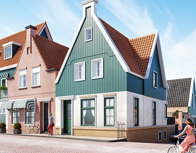 Volendammer house -Free 3D Scene