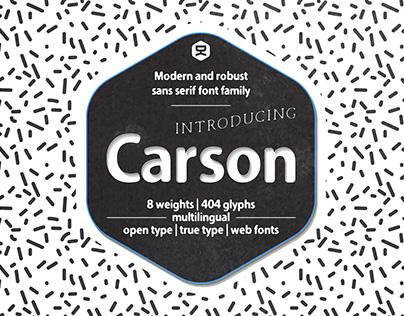 Carson | sans serif font