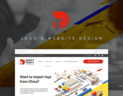 DontyTonty logo & website design