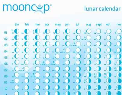 Lunar Calendar design for Mooncup