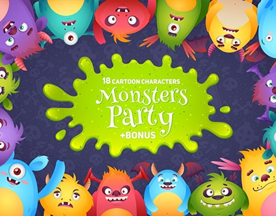 Monsters Party: Characters Set