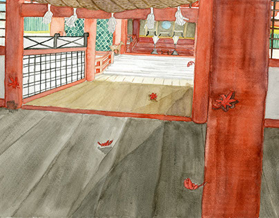 Interior Illustration - Itsukushima Shrine