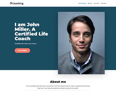 Coaching, Teacher, Personal landing page website