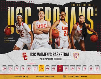 2019-20 USC Women's Basketball Poster