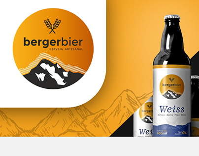 Logo and bottle label design - Berger Bier