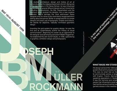Magazine Layout for Joseph Müller-Brockmann