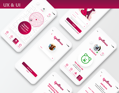 Pettrace - UX and UI Design of pet tracking app