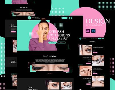 MAC lash bar (Dark Web Design) - Devs Melbourne