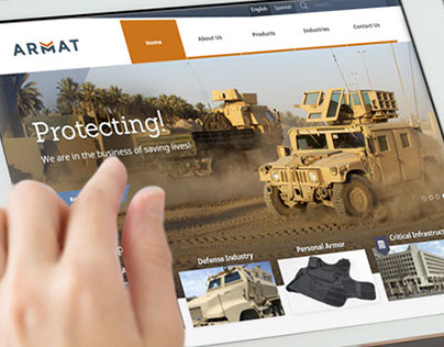 WordPress Website for Armor Material Company - ARMAT