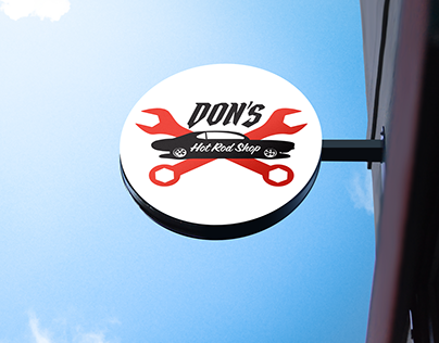 Don's Hot Rod Shop(Auto Shop) Brand Identity