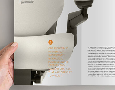 Re-Designing 'Steelcase' annual report