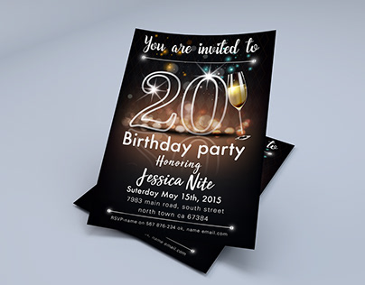 Save The Date, Birthday Invitation Template