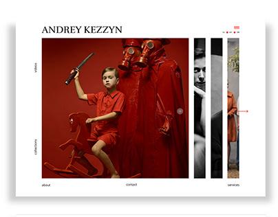 ANDREY KEZZYN portfolio site design