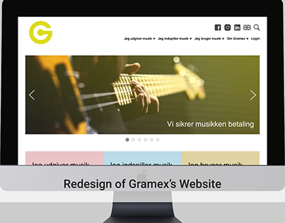 Redesign of Gramex's Website