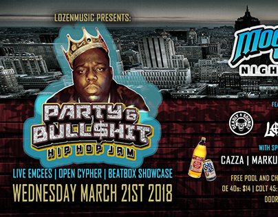 Party & Bull$hit Event Banner