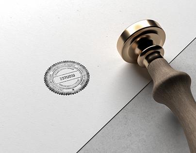 10 Best Free Stamp Mockups For Branding & Logo Design.