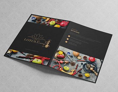 Menu Design | Lotus Lounge