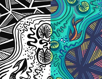 Doodle Art | Monochrome & Colored