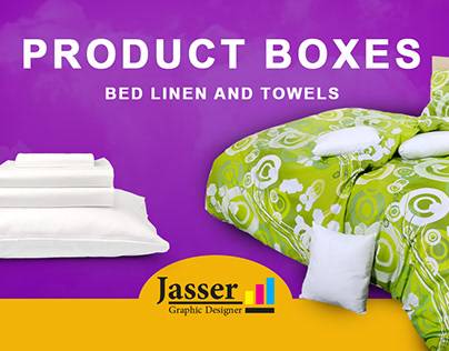 Product Box &bed linen and towels