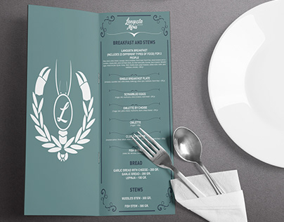 Fish Restaurant Menu Design