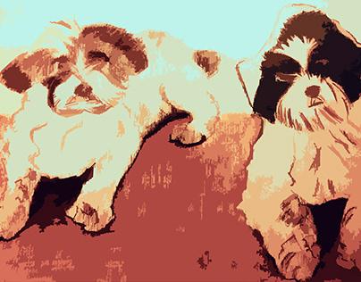 dogs knipsel
