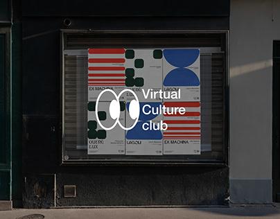 Virtual Culture club Visual Identity