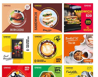 Instagram Food Post Templates