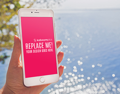 Free Mockup: iPhone 6 Plus in woman's hand (Freebie)