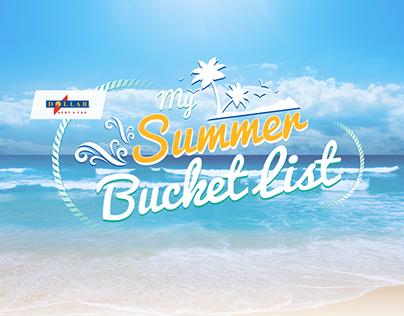 Dollar My Summer Bucket List