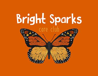 Bright Sparks Care Club Branding